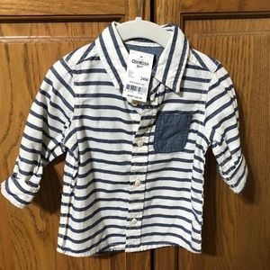 Oshkosh Boy's Button Down Striped Shirt